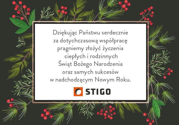 Wesołych Świąt życzy STIGO