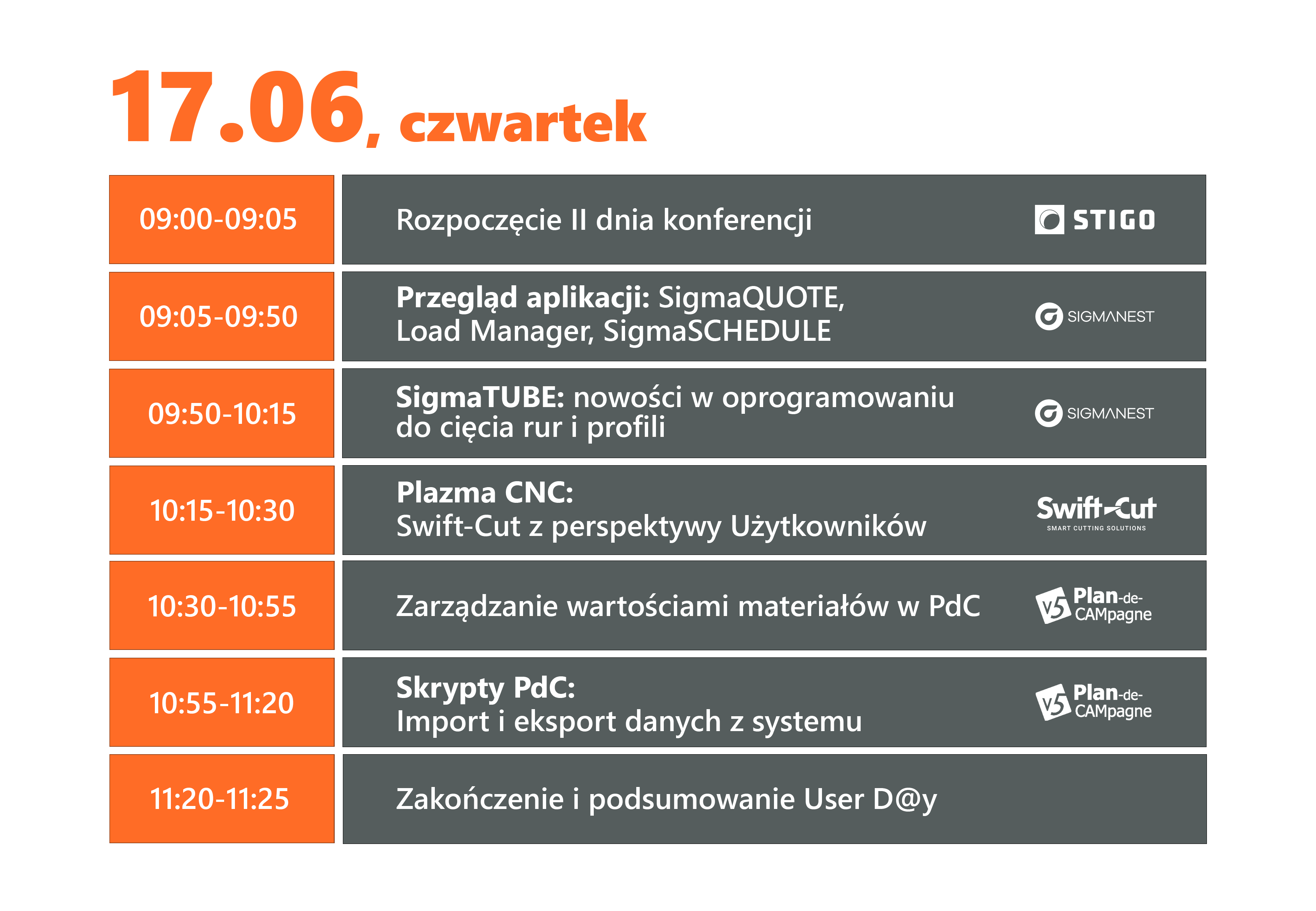 User Day 2021: konferencja dla branży metalowej - agenda 17.06